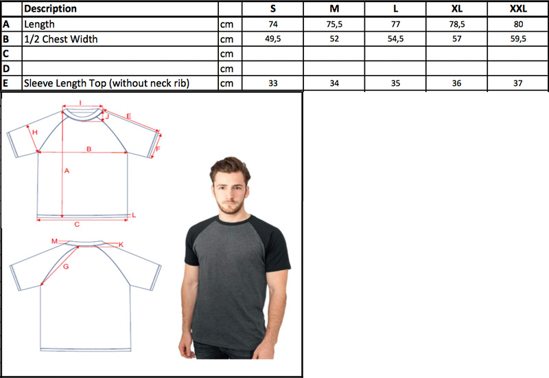 Herren Kontrast Raglan T-Shirt | Build Your Brand