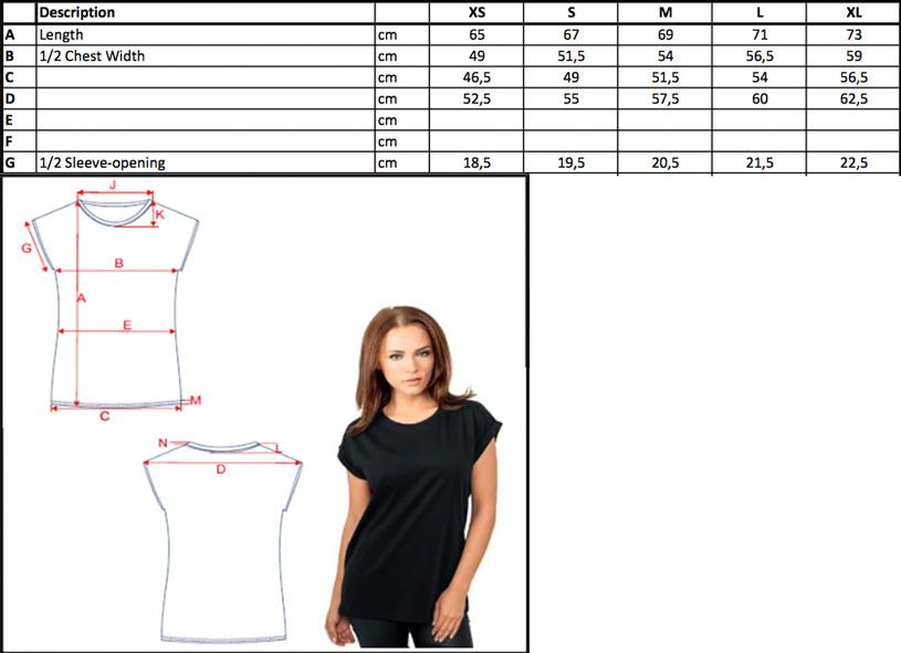 Damen Extended Shoulder T-Shirt | Build Your Brand