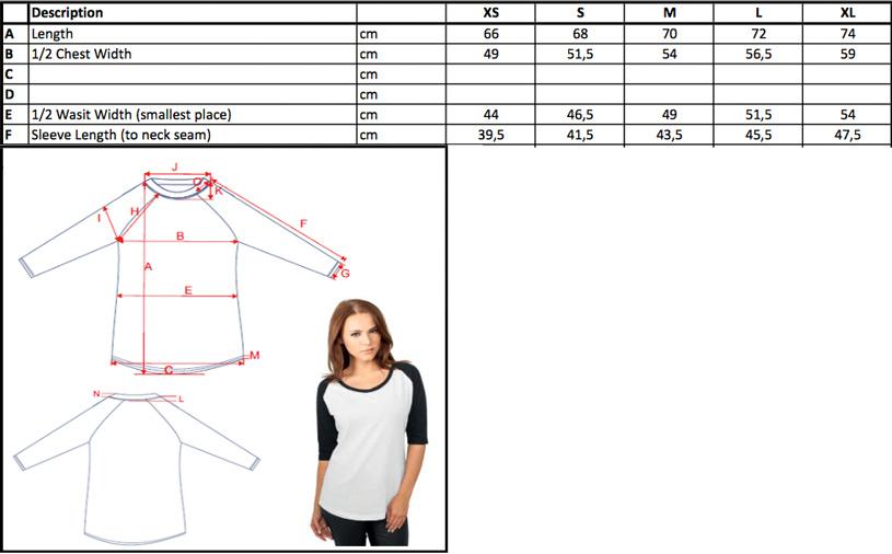 Damen 3/4 Kontrast Raglan T-Shirt | Build Your Brand