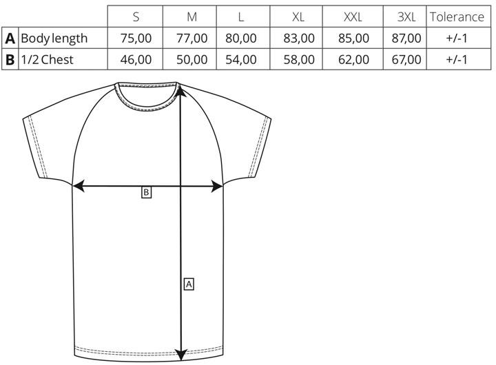 my mate - Herren Long T-Shirt | miners mate - Größentabelle