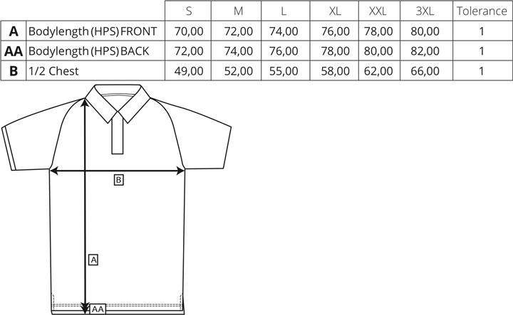 my mate - Herren Polo Shirt | miners mate - Größentabelle