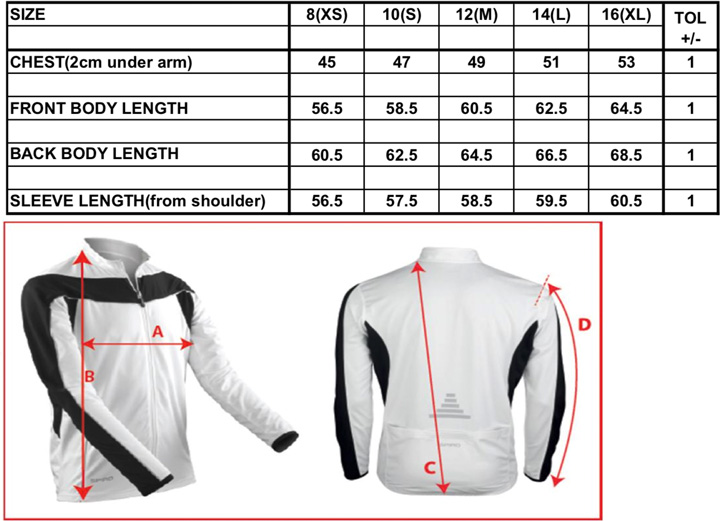 Ladies` Bikewear Long Sleeve Performance Top | Spiro