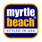 Strickschal im Ripp-Design | Myrtle Beach - Logo