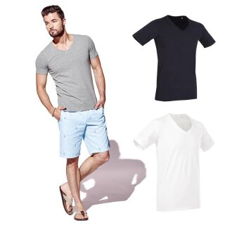 Deep V-Neck T-Shirt Dean | Stedman
