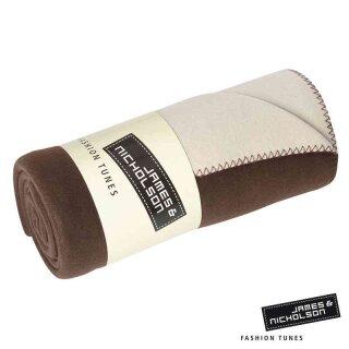 Fleece Decke | James & Nicholson braun/creme