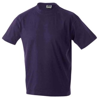 Basic T-Shirt S - 3XL | James & Nicholson aubergine M