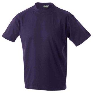 Basic T-Shirt S - 3XL | James & Nicholson aubergine XXL
