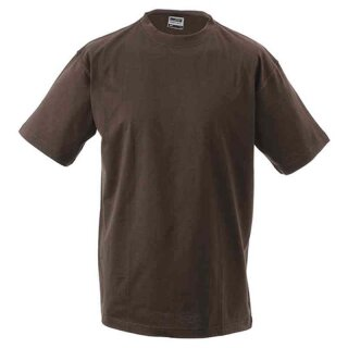 Basic T-Shirt S - 3XL | James & Nicholson braun XXL
