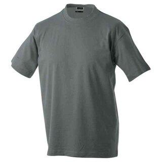 Basic T-Shirt S - 3XL | James & Nicholson dunkelgrau XXL