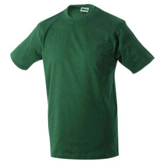 Basic T-Shirt S - 3XL | James & Nicholson dunkelgrün S