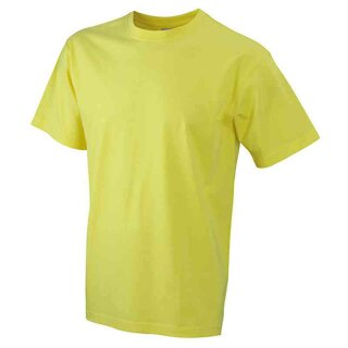 Basic T-Shirt S - 3XL | James & Nicholson gelb XXL
