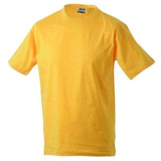 Basic T-Shirt S - 3XL | James & Nicholson goldgelb XXL