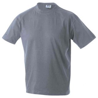 Basic T-Shirt S - 3XL   James & Nicholson grau-meliert S