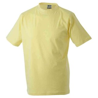 Basic T-Shirt S - 3XL | James & Nicholson hellgelb XXL