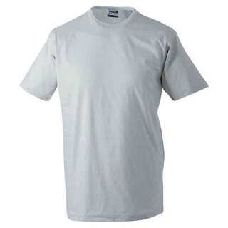 Basic T-Shirt S - 3XL | James & Nicholson hellgrau XL