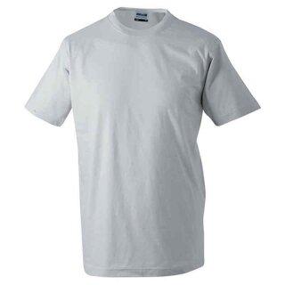 Basic T-Shirt S - 3XL | James & Nicholson hellgrau XXL