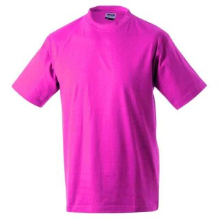 Basic T-Shirt S - 3XL | James & Nicholson pink XXL