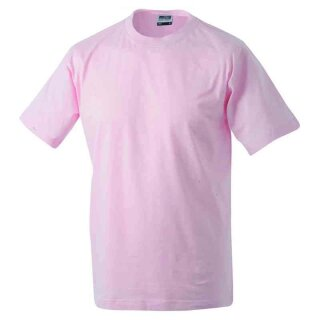 Basic T-Shirt S - 3XL | James & Nicholson rosa XXL