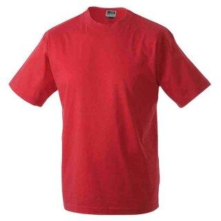 Basic T-Shirt S - 3XL | James & Nicholson rot XL
