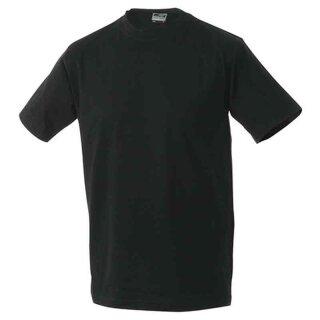 Basic T-Shirt S - 3XL   James & Nicholson schwarz S
