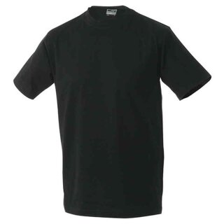 Basic T-Shirt S - 3XL | James & Nicholson schwarz XXL