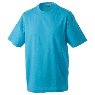 Basic T-Shirt S - 3XL | James & Nicholson türkis XXL