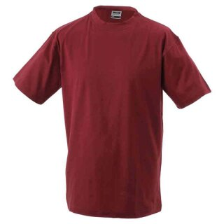 Basic T-Shirt S - 3XL | James & Nicholson weinrot XL