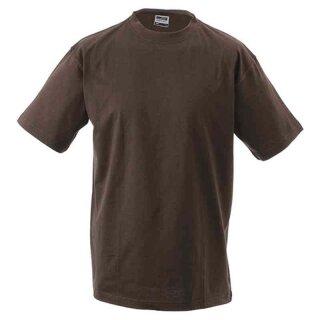 Basic T-Shirt S - 3XL | James & Nicholson braun 3XL