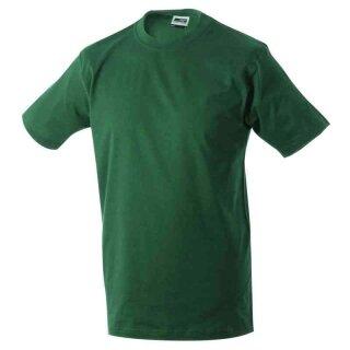 Basic T-Shirt S - 3XL | James & Nicholson dunkelgrün 3XL