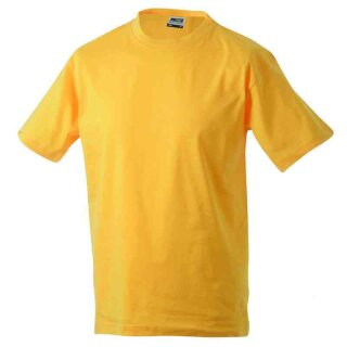 Basic T-Shirt S - 3XL | James & Nicholson goldgelb 3XL