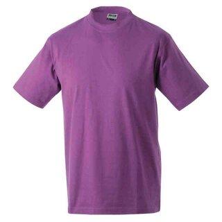 Basic T-Shirt S - 3XL | James & Nicholson lila 3XL