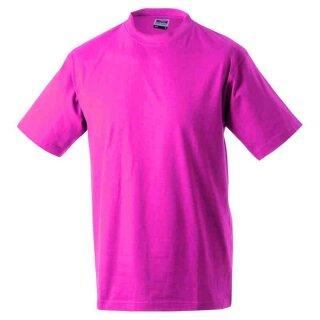 Basic T-Shirt S - 3XL | James & Nicholson pink 3XL
