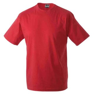 Basic T-Shirt S - 3XL | James & Nicholson rot 3XL