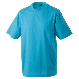 Basic T-Shirt S - 3XL | James & Nicholson türkis 3XL