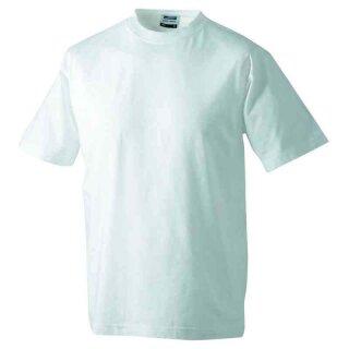 Basic T-Shirt S - 3XL | James & Nicholson weiß 3XL