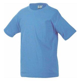 Kinder T-Shirt | James & Nicholson aqua 110/116 (S)