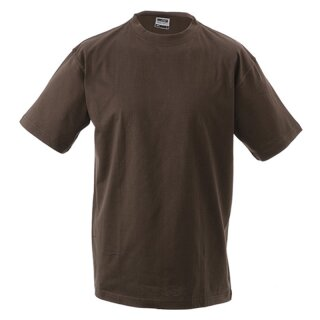 Kinder T-Shirt | James & Nicholson braun 122/128 (M)