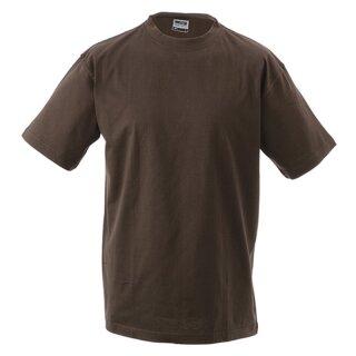 Kinder T-Shirt   James & Nicholson braun 134/140 (L)