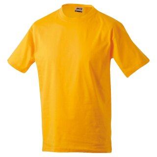 Kinder T-Shirt | James & Nicholson goldgelb 110/116 (S)