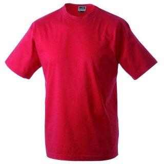 Kinder T-Shirt | James & Nicholson rot 134/140 (L)
