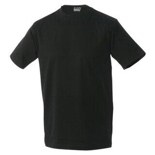 Kinder T-Shirt | James & Nicholson schwarz 134/140 (L)