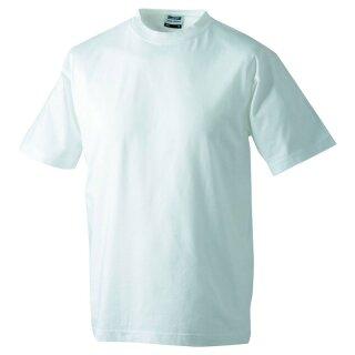 Kinder T-Shirt | James & Nicholson weiß 110/116 (S)