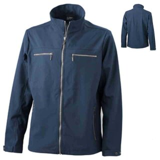 Trendige Herren Softshelljacke | James & Nicholson navy XL