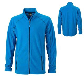 Leichte Outdoor Fleecejacke | James & Nicholson aqua XXL