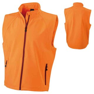 Herren Softshellweste | James & Nicholson orange 3XL