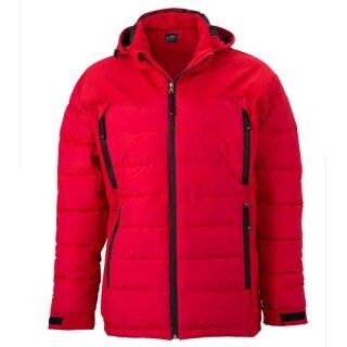 Wintersportjacke | James & Nicholson rot XL