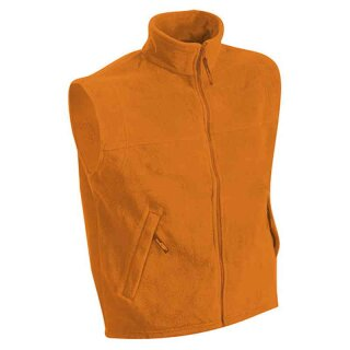 Herren Fleeceweste | James & Nicholson orange XL