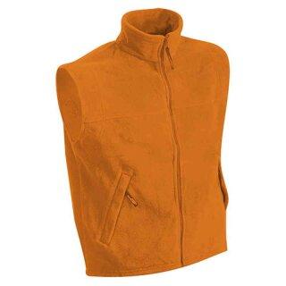 Herren Fleeceweste | James & Nicholson orange 3XL