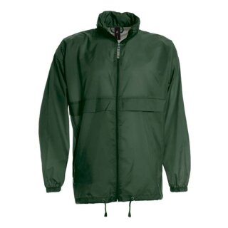 Damen und Herren Regenjacke | B&C dunkelgrün XL