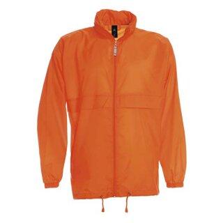 Damen und Herren Regenjacke   B&C orange XXL